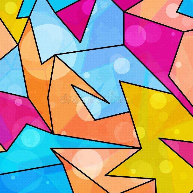 Bunte geometrische abstrakte Musterschmutzbeschaffenheit lizenzfreie abbildung