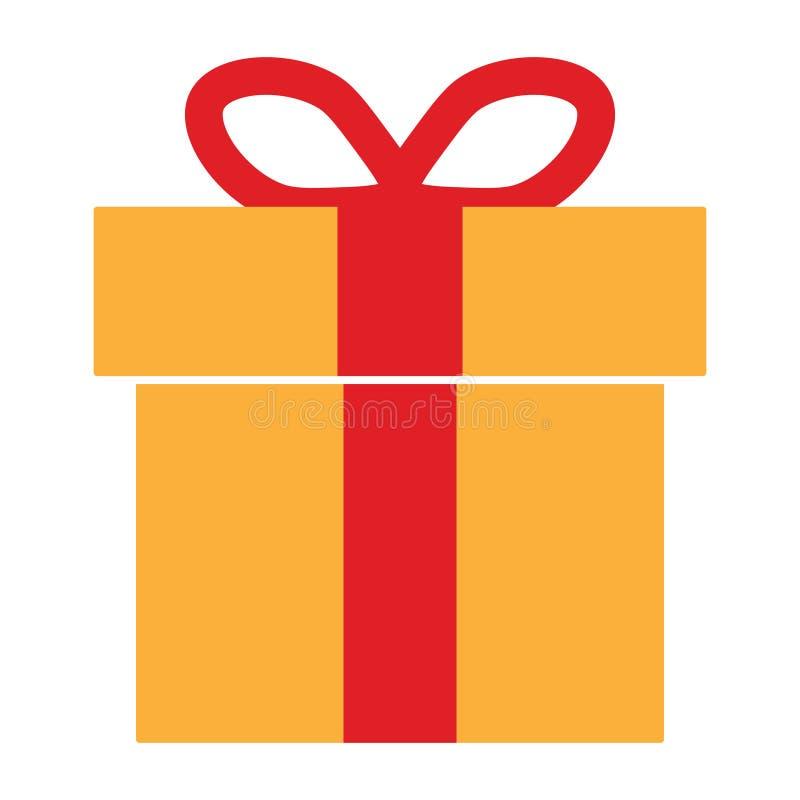 Bunte Geschenkbox-Ikone vektor abbildung