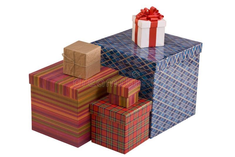Bunte Geschenkkästen lizenzfreie stockbilder