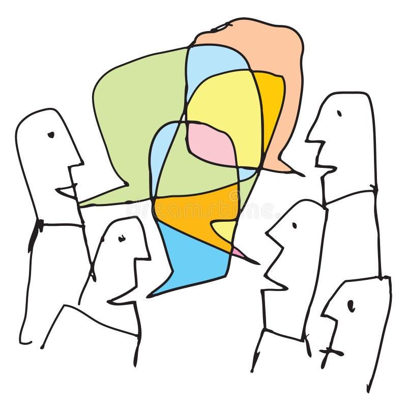 Bunte Gespräche lizenzfreie abbildung