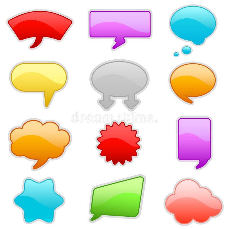 Bunte Gesprächsluftblasen lizenzfreie abbildung