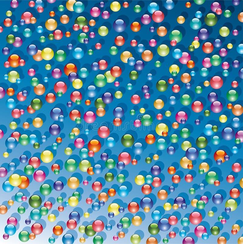 Bunte glänzende Luftblasen lizenzfreie abbildung