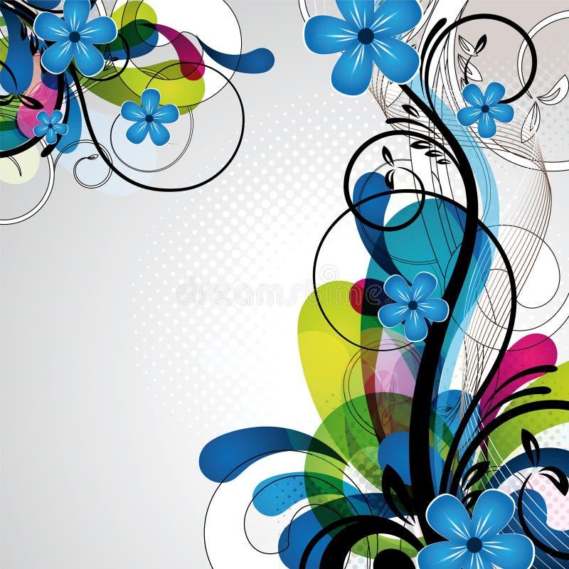 Bunte glückliche Blumenauslegung lizenzfreie abbildung