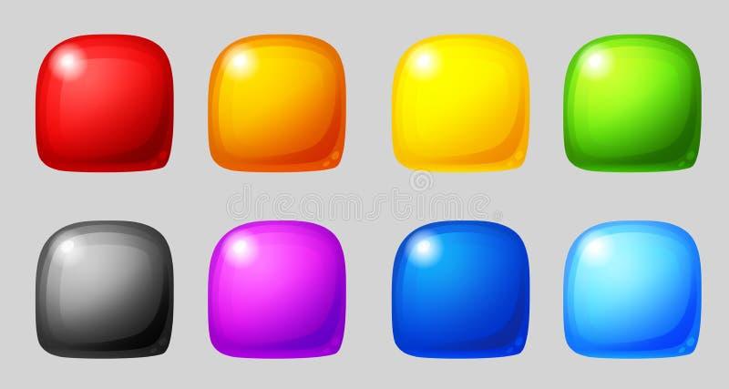 Bunte glatte Formen für Spiel oder Webdesign stock abbildung