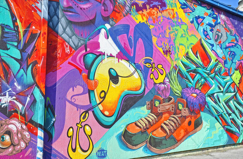 Bunte Graffiti stockbild