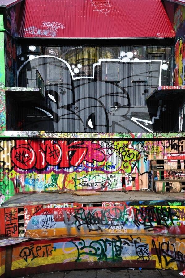 Bunte Graffiti in Reykjavik lizenzfreie stockfotos