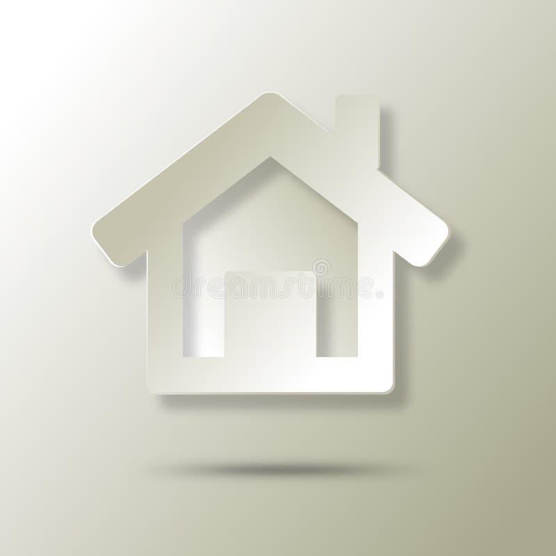 Ökologische Hauszusammenfassungsikone stock abbildung
