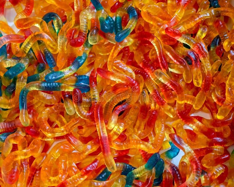 Bunte gummiartige Neonsüßigkeiten lizenzfreie stockbilder