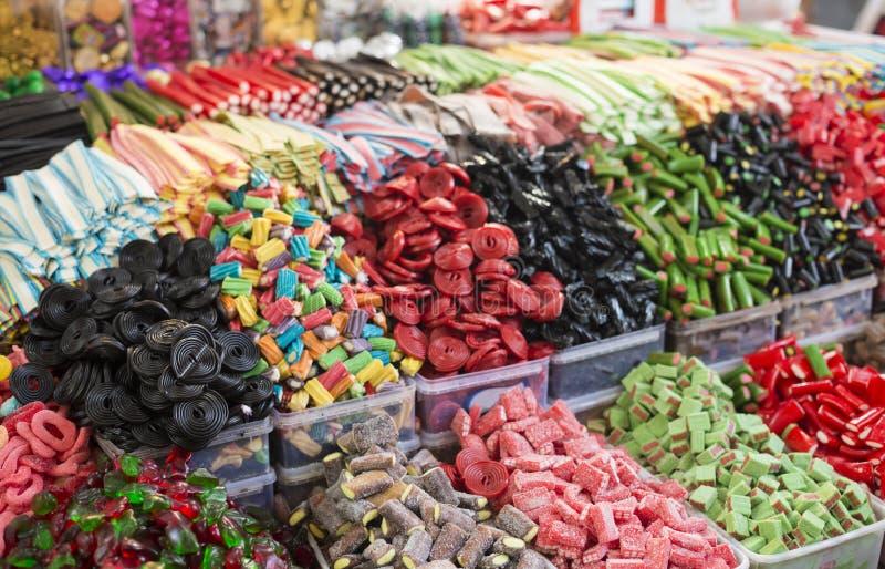 Bunte gummiartige Süßigkeiten der Zusammenstellung lizenzfreie stockfotos