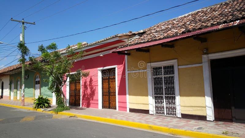 Bunte Häuser stockfotografie