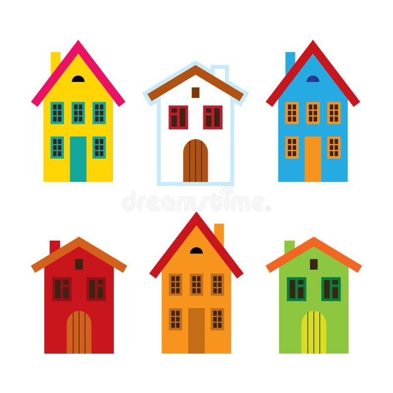Bunte Häuser vektor abbildung