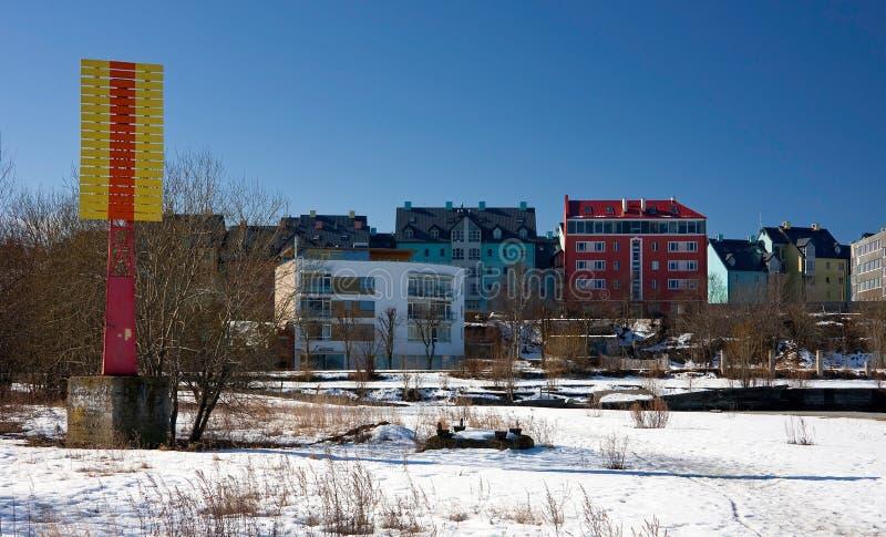 Download Bunte Häuser stockfoto. Bild von winter, architektur, häuser - 9097804
