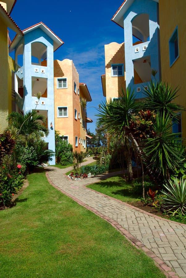Bunte Häuser in der Dominikanischen Republik lizenzfreies stockfoto