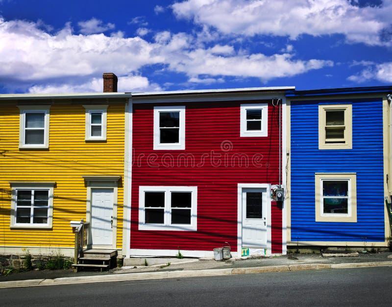 Bunte Häuser in Johannes stockfotografie