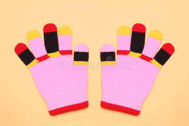 Bunte Handschuhe lizenzfreie stockfotos
