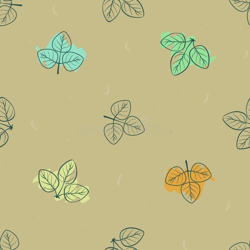 Bunte Herbstblätter stock abbildung