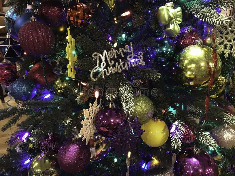 Bunte Hintergrundnahaufnahme des Weihnachten drei lizenzfreies stockbild
