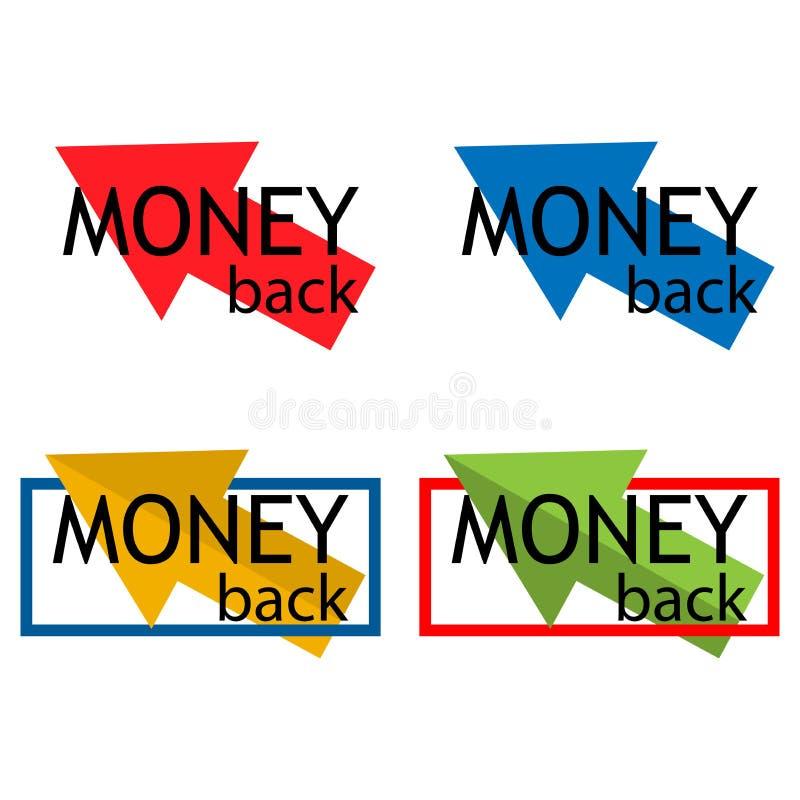 Bunte Ikone der Geld-Rückseite, auf weißem Hintergrund - Vektor vektor abbildung