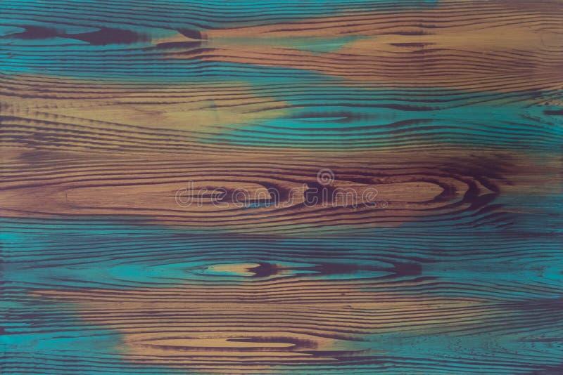 Bunte Illusionsmalerei der handgemalten Platte, trompe - L ' oeil, mit kreativer Nachahmung des hölzernen Kornes, hölzernes Brett lizenzfreie stockfotografie