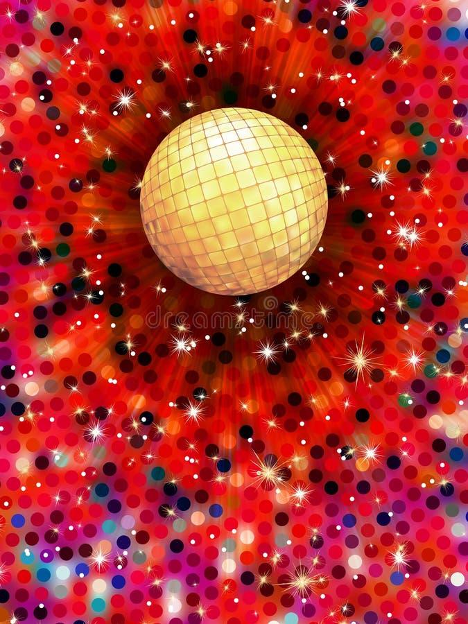 Bunte Illustration des Discoballs 3d. ENV 10 stock abbildung