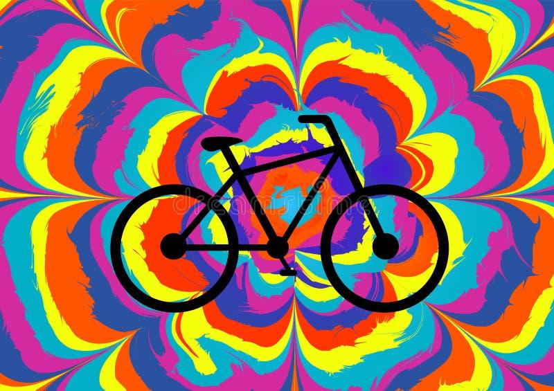 Bunte Illustration für den Fahrrad-Tag stock abbildung