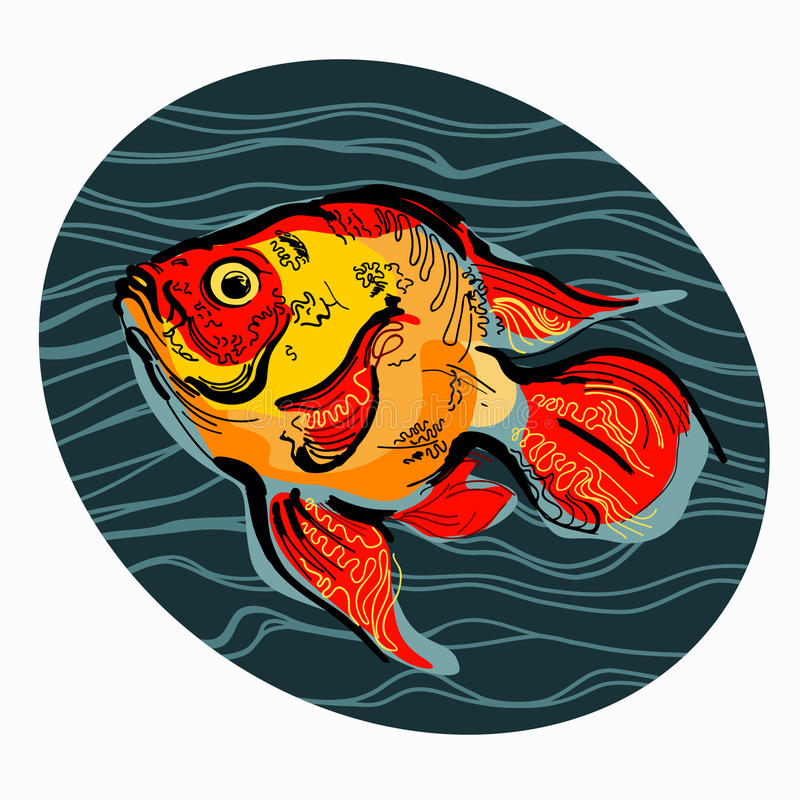 Bunte Illustration von Fischen 3 lizenzfreies stockfoto