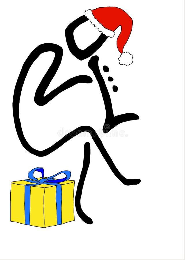 Bunte Illustrationen von Weihnachtsmann lizenzfreie abbildung