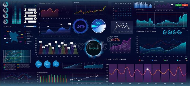 Bunte infographic Elemente stock abbildung
