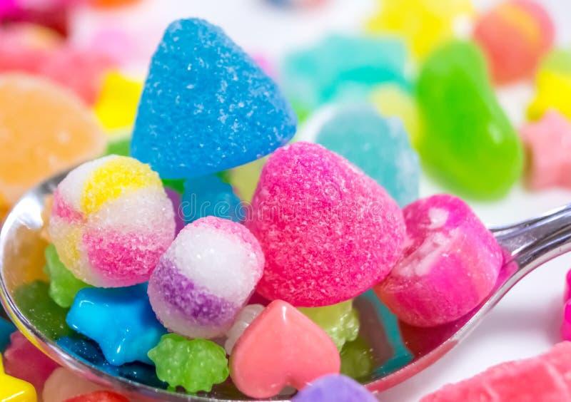 Bunte japanische Süßigkeit lizenzfreies stockbild