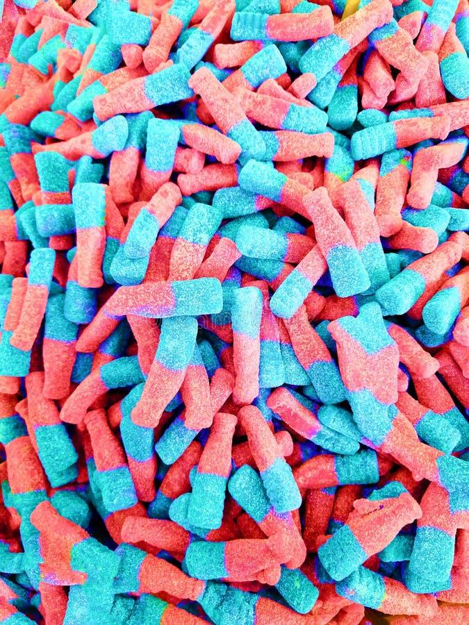 Bunte Jelly Candy-Bonbonsnackgruppe Bonbon f?r Valentinsgru?tageshintergrund lizenzfreies stockfoto