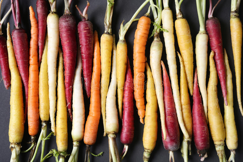 Bunte Karotten lizenzfreies stockfoto