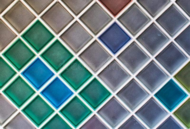 Bunte keramische Mosaikfliesen Hintergrund lizenzfreies stockfoto