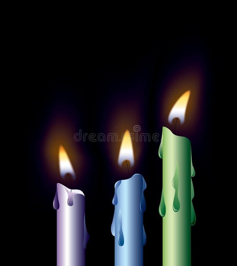 Bunte Kerzen stock abbildung