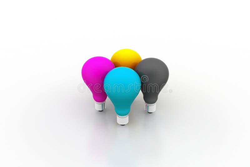 Bunte Lampen stock abbildung