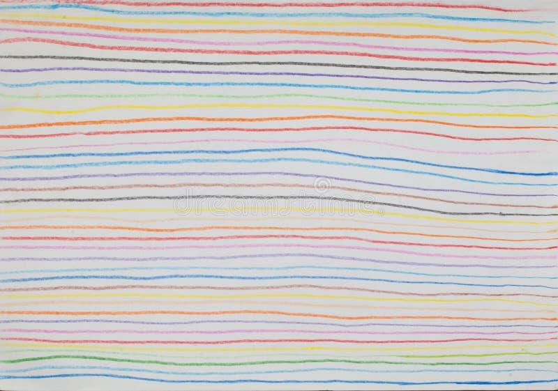 Bunte Linie Hintergrund gemacht von der Bleistiftfarbe stockfotografie