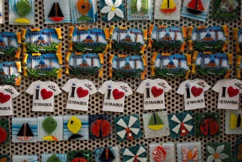 Bunte Magnetandenken von Istanbul lizenzfreie stockfotografie