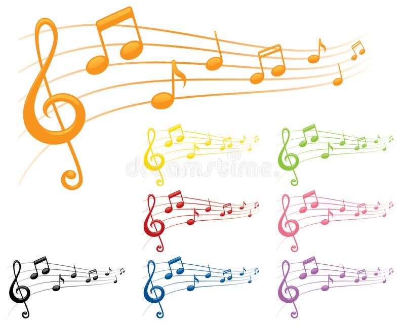 Bunte Melodien lizenzfreie abbildung