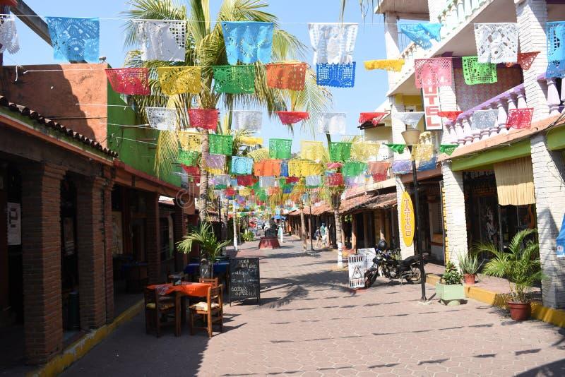 Bunte Mexcio-Straßen stockbilder