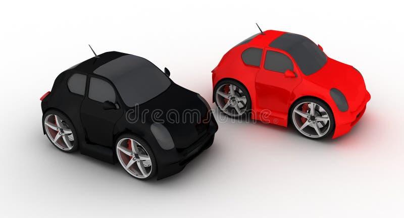 Bunte Mikroautos stock abbildung