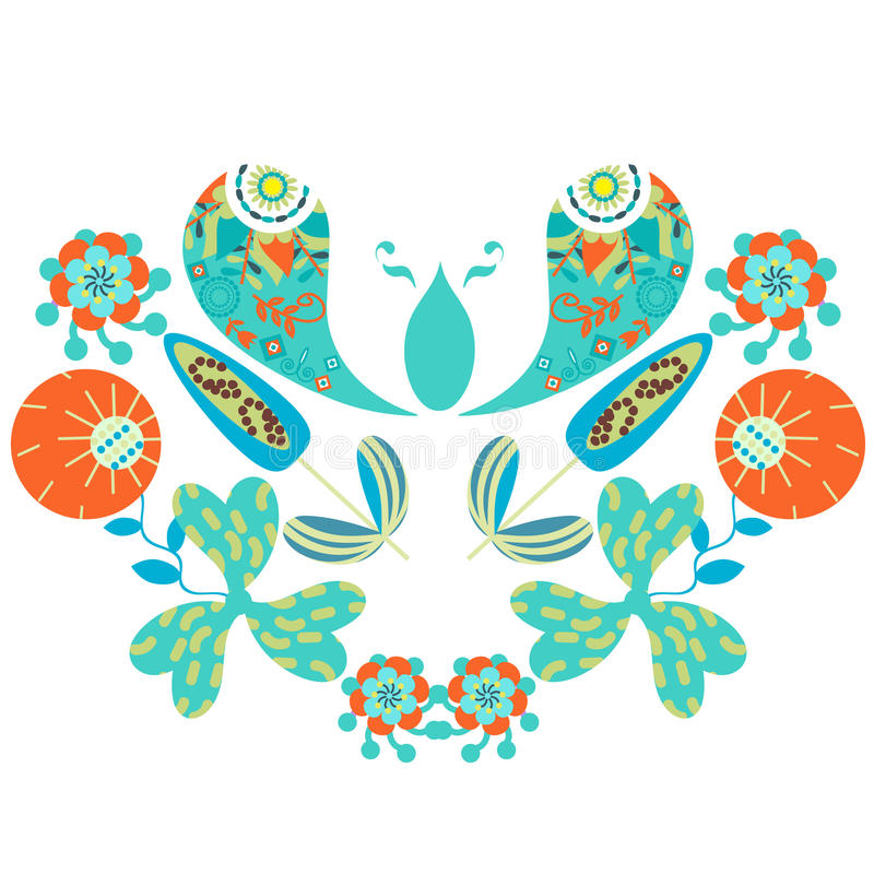 Bunte mit Blumenverzierung Paisleys stock abbildung