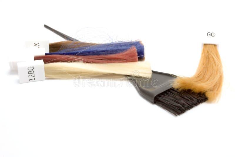 Bunte Muster des Haares für das Farbenabgleichen lizenzfreies stockfoto