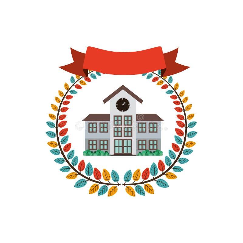 Bunte olivgrüne Krone mit Struktur des Bandes und der Highschool lizenzfreie abbildung