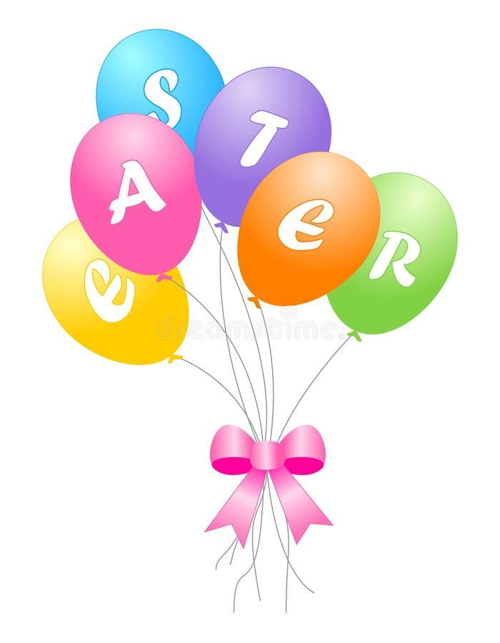 Bunte Ostern-Ballone Lizenzfreie Stockfotografie