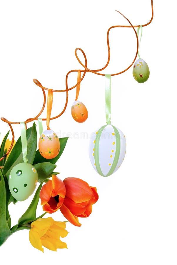 Bunte Ostern-Tulpen lizenzfreies stockbild