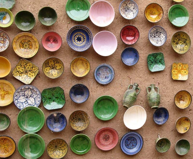 Bunte Platten, Marokko lizenzfreies stockbild