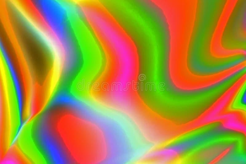 Bunte psychedelische abstrakte Vertretungsdruckverteilung im Plastik lizenzfreies stockfoto