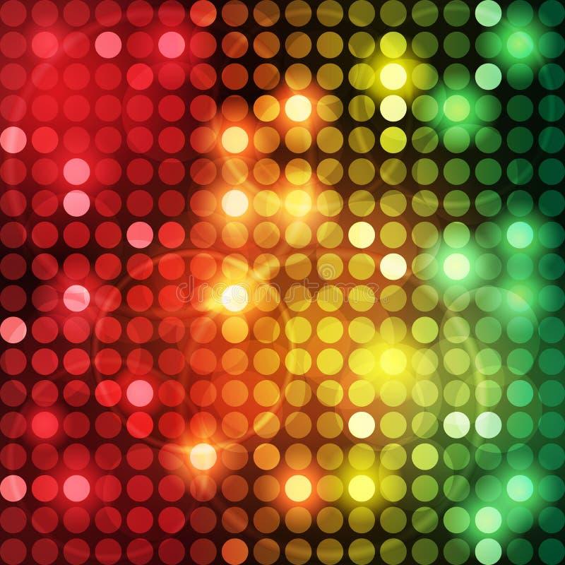 Bunte Punkt-abstrakter vektorhintergrund vektor abbildung