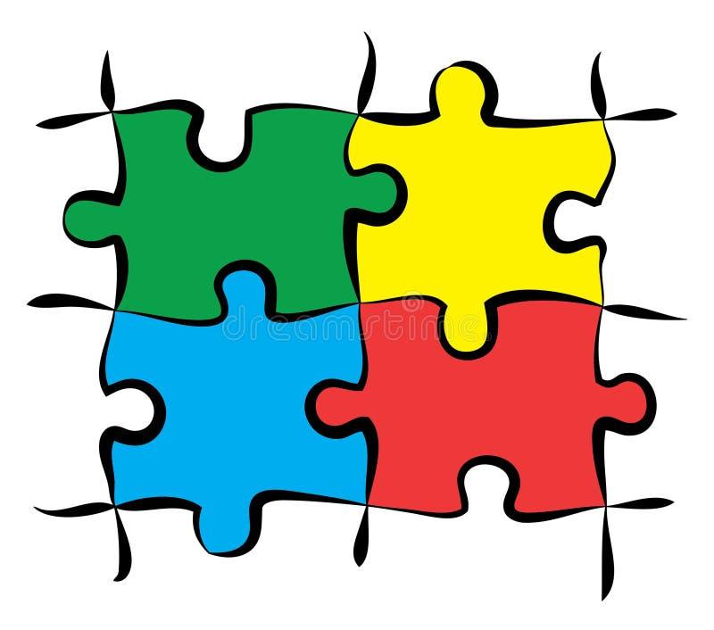 Bunte Puzzlespielstücke lizenzfreies stockbild