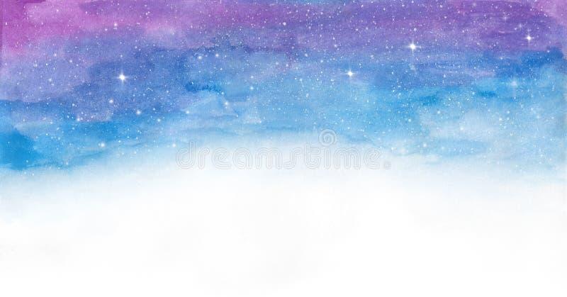 Bunte Raumgalaxie des Aquarells vektor abbildung