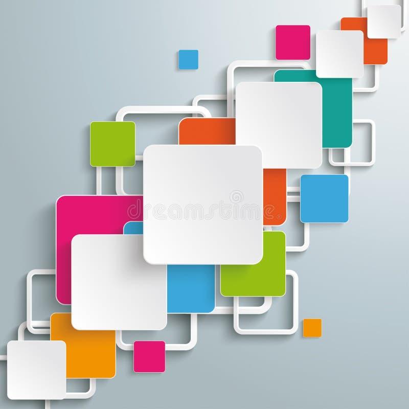 Bunte Rechteck-Quadrat-diagonaler Entwurf PiAd lizenzfreie abbildung